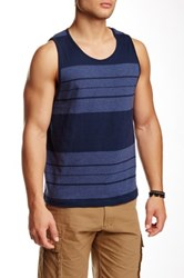 Burnside Stripe Tank Blue