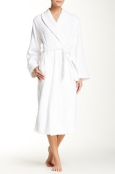 Casual Moments Terry Shawl Collar Wrap White