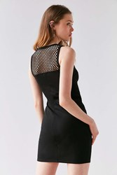 Silence And Noise Mesh Insert Bodycon Dress Black