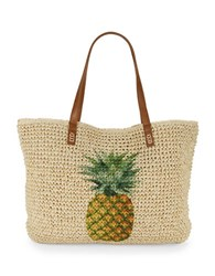 Straw Studios Beach Tote Yellow Pinapple
