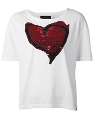 Vivienne Westwood Anglomania Sequin Heart T Shirt White