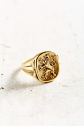 Urban Outfitters Ahead Of The Class Ring Gold