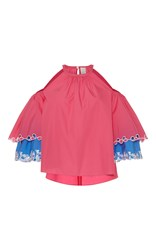 Peter Pilotto Layered Cutout Blouse Pink