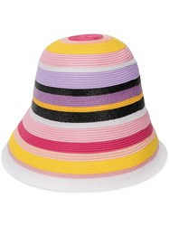 Emilio Pucci Embroidered Striped Bucket Hat Pink