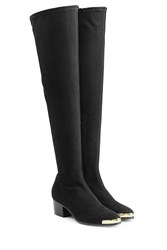 Giuseppe Zanotti Suede Over The Knee Boots Black