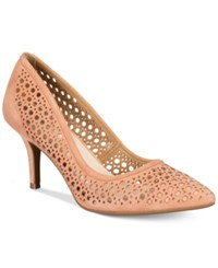 Alfani Women's Step 'N Flex Jennah Perforated Pumps Only At Macy's Women's Shoes Apricot