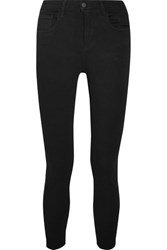 L'agence The Margot Cropped Mid Rise Skinny Jeans Black