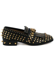 Gucci Studded Fringe Loafer Black