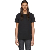 Naked And Famous Denim Black Circular Knit T Shirt