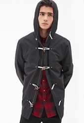 Forever 21 Hooded Toggle Front Utility Jacket