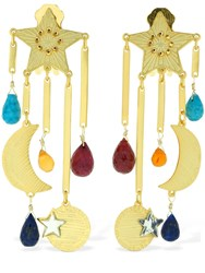 Mercedes Salazar Estrella Magica De Arcoiris Earrings Gold