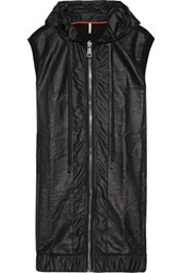 No Ka' Oi Ka'oi Nehe Coated Shell And Cotton Blend Jersey Gilet Black