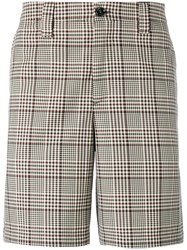 Golden Goose Deluxe Brand Checked Shorts Brown
