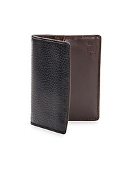 Will Leather Goods Pebbled Leather Card Case Black Brown