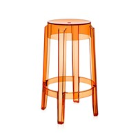 Kartell Charles Ghost Stool 65Cm Orange