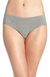 Nordstrom Women's Lingerie Lace Trim Seamless Hipster Briefs Green Dune Heather