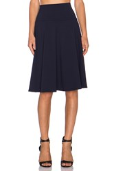 Susana Monaco High Waist Flared Skirt Navy