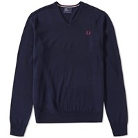 Fred Perry Classic V Neck Knit Blue