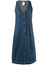 Chanel Vintage Midi Denim Dress Blue