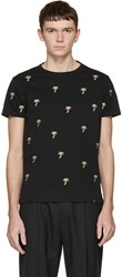 Marc Jacobs Black Embroidered Palm Trees T Shirt