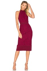 Lover Violet Fitted Halter Dress Wine