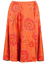 Projet Alabama Appliqued Skirt Yellow And Orange