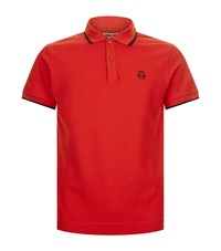 Mcq By Alexander Mcqueen Tipped Logo Polo Shirt Male Red