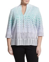 Ming Wang Multi Striped Relaxed Jacket