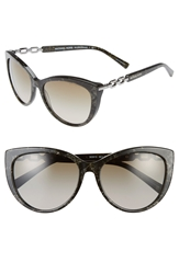 Michael Kors Collection 56Mm Cat Eye Sunglasses Black Green
