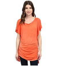 Lucky Brand Vacation Vibe Tunnel Dress Cover Up Mango Women's Swimwear Orange