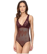 Stella Mccartney Sophie Surprising Bodysuit Plum Women's Jumpsuit And Rompers One Piece Purple