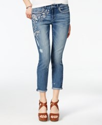 Jessica Simpson Embroidered Skinny Jeans Moss