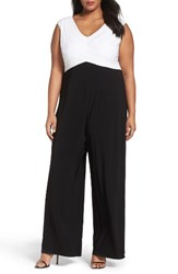 Adrianna Papell Plus Size Women's Colorblock Jersey Jumpsuit