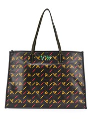 Vivienne Westwood Lightning Bolt Tote Bag Black