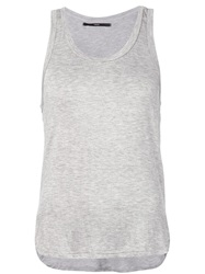 Fadeless Scoop Neck Tank Top Grey