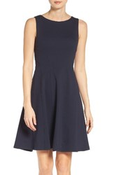 Eliza J Women's Seamed Fit And Flare Dress Navy