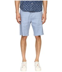 Vince Relaxed Linen Shorts Faded Denim Men's Shorts Blue