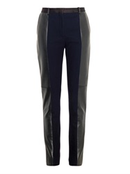 Celine Sunglasses Leather And Wool Blend Skinny Trousers