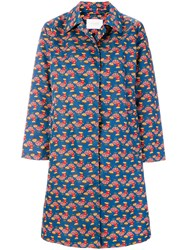 La Doublej Chicken Print Coat Nylon Multicolour