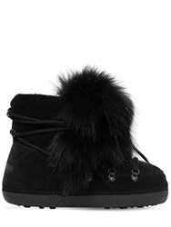 Dsquared Riri Fur And Suede Snow Boots Black