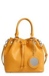 Steve Madden Baudrie Faux Leather Satchel Yellow Mustard