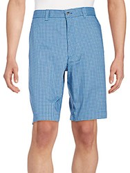 Callaway Plaid Shorts Magnetic Blue