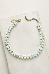 Anthropologie Ophelia Beaded Choker Necklace Mint