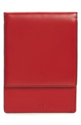 Lodis Audrey Under Lock And Key Skyler Leather Passport Wallet Red