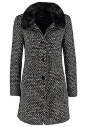 Comma Classic Coat Grey Black Melange
