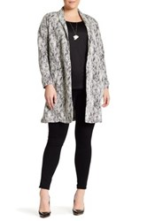 Bobeau Textured Topper Jacket Plus Size Black