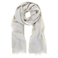 Mint Velvet Textured Foil Scarf Grey Pebble