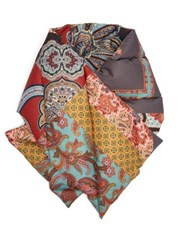 Etro Paisley Print Down Filled Scarf Red