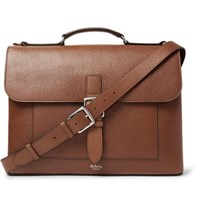 Mulberry Chiltern Pebble Grain Leather Briefcase Brown