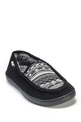 Muk Luks Henry Faux Fur Slipper Black